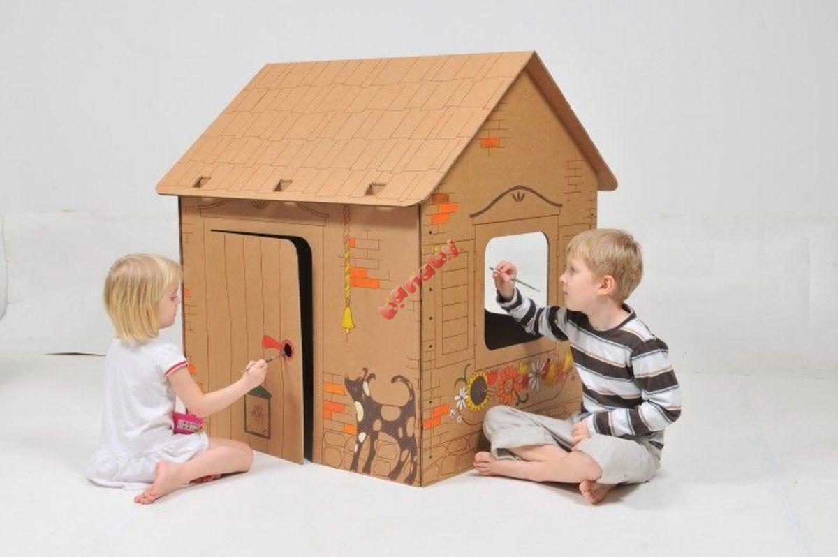 Домик для детей своими руками. Фото. Складной домик для детей 14