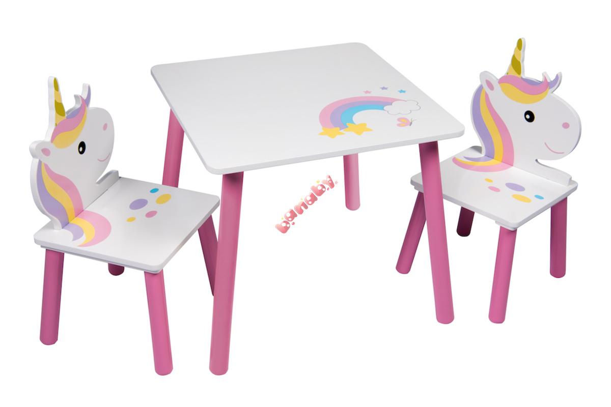 f663462cfb08 Detský stôl so stoličkami - Jednorožec II - banaby.sk