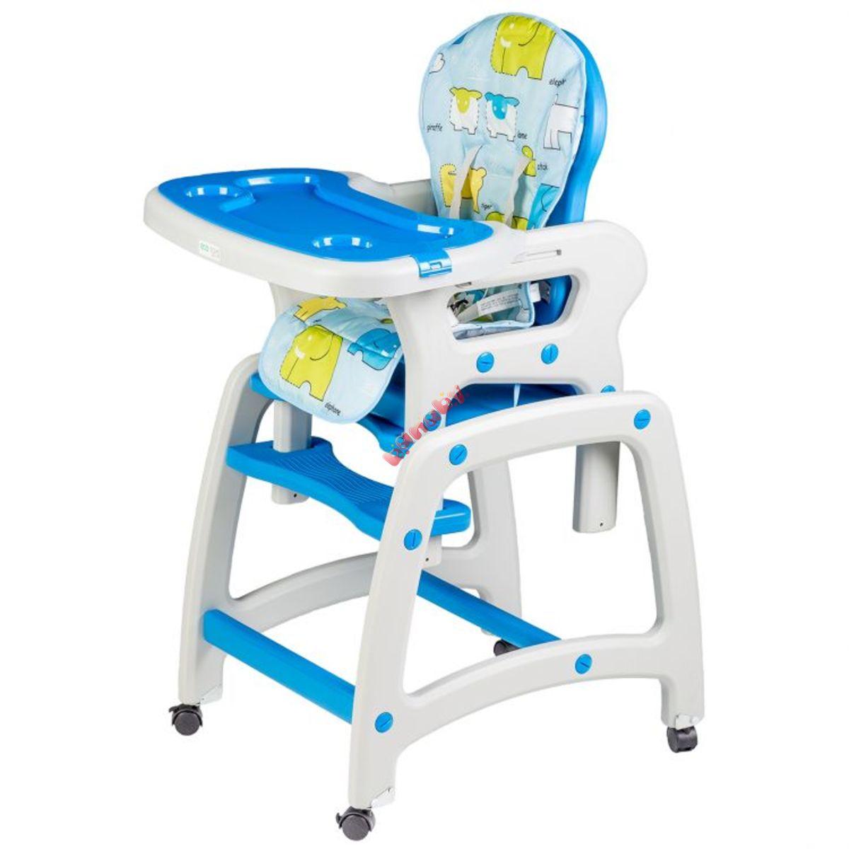 28fa8da190af Detská jedálenská stolička 2v1 - modrá - banaby.sk