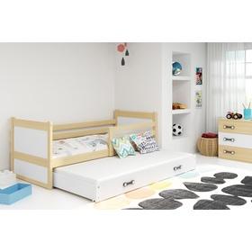 46a7ce461163c Tip Detská posteľ s prístelkou Rocky - prírodná-biela, ...