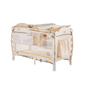 CHIPOLINO Cestovný postieľka Play pen Casablanca Neo - beige, CHIPOLINO LTD.