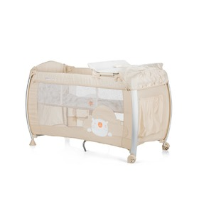 CHIPOLINO Cestovný postieľka Play pen and crib Casida - creme bear, CHIPOLINO LTD.