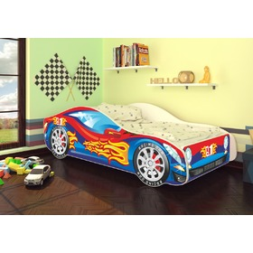 d7d0b704e48c OURBABY detská posteľ Autíčko - červeno-modré + matrac zadarmo