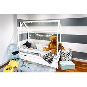 1aef75c1210c Detská posteľ domček Paul - biela