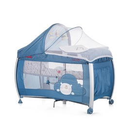 CHIPOLINO Cestovný postieľka Play pen and crib Casida - blue bear