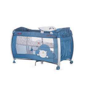CHIPOLINO Cestovný postieľka Play pen and crib Casida - blue bear, CHIPOLINO LTD.